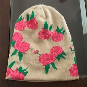 Host Pick! 🎉 World Market Rose 🌹 Beanie Hat